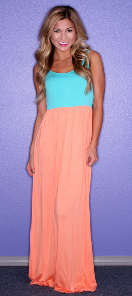 Party in the Hills Maxi Orange