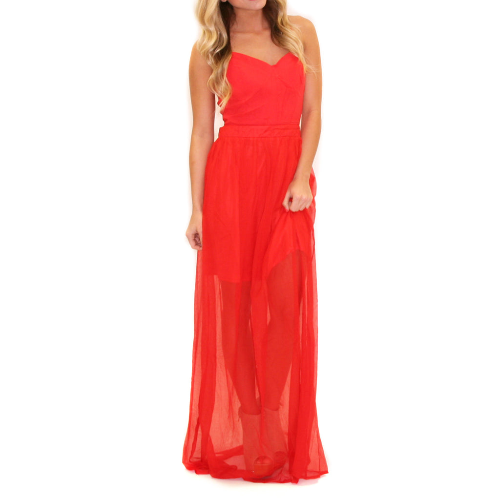 Getting The Party Started Maxi Red