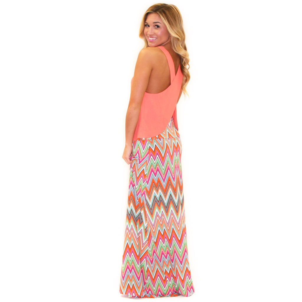 Forever Young Maxi Skirt in Orange