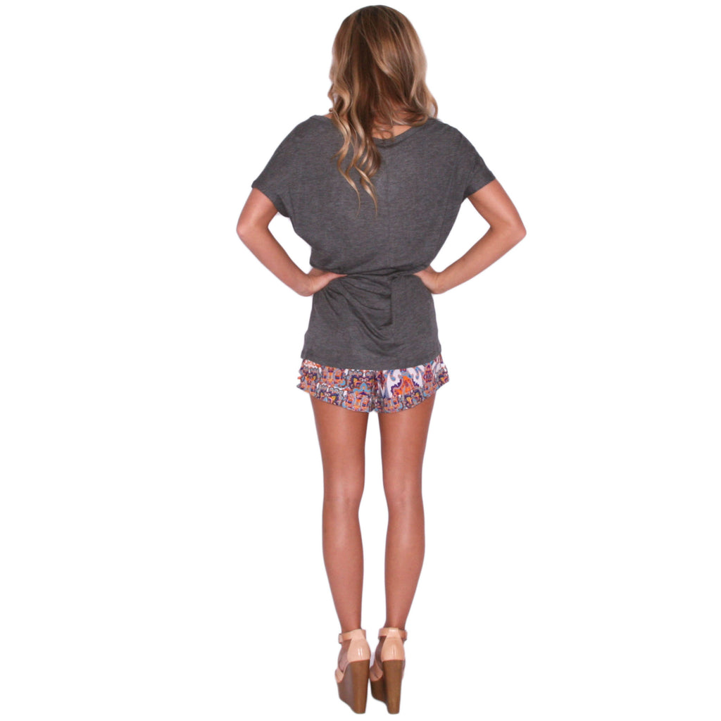 Patio Party Tee Charcoal
