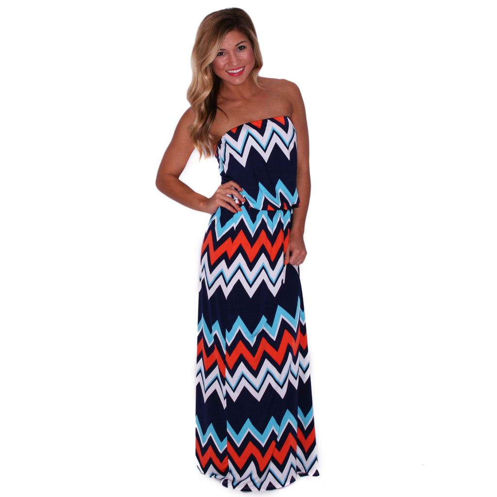 Patio Weather Maxi in Navy