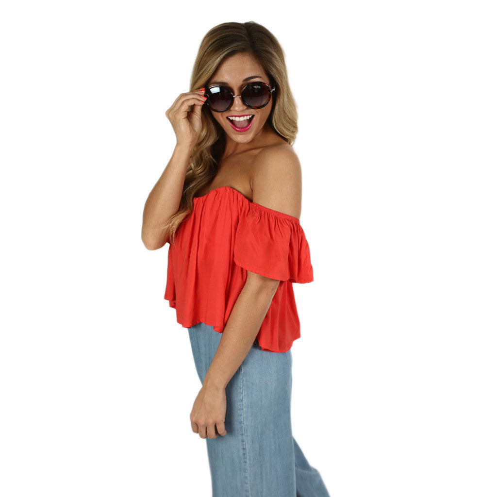 Feeling Perfect Crop in Coral