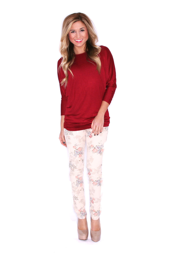 Perfect Fit Tunic Burgundy