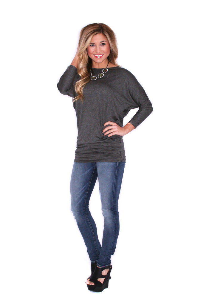 Perfect Fit Tunic Charcoal