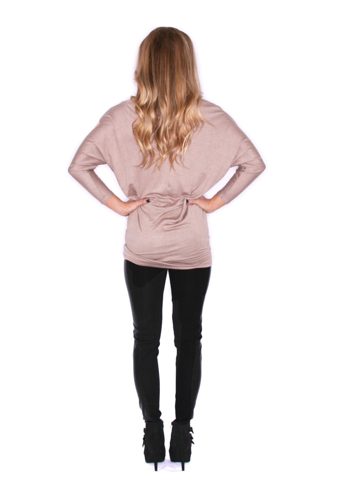 Perfect Fit Tunic Taupe
