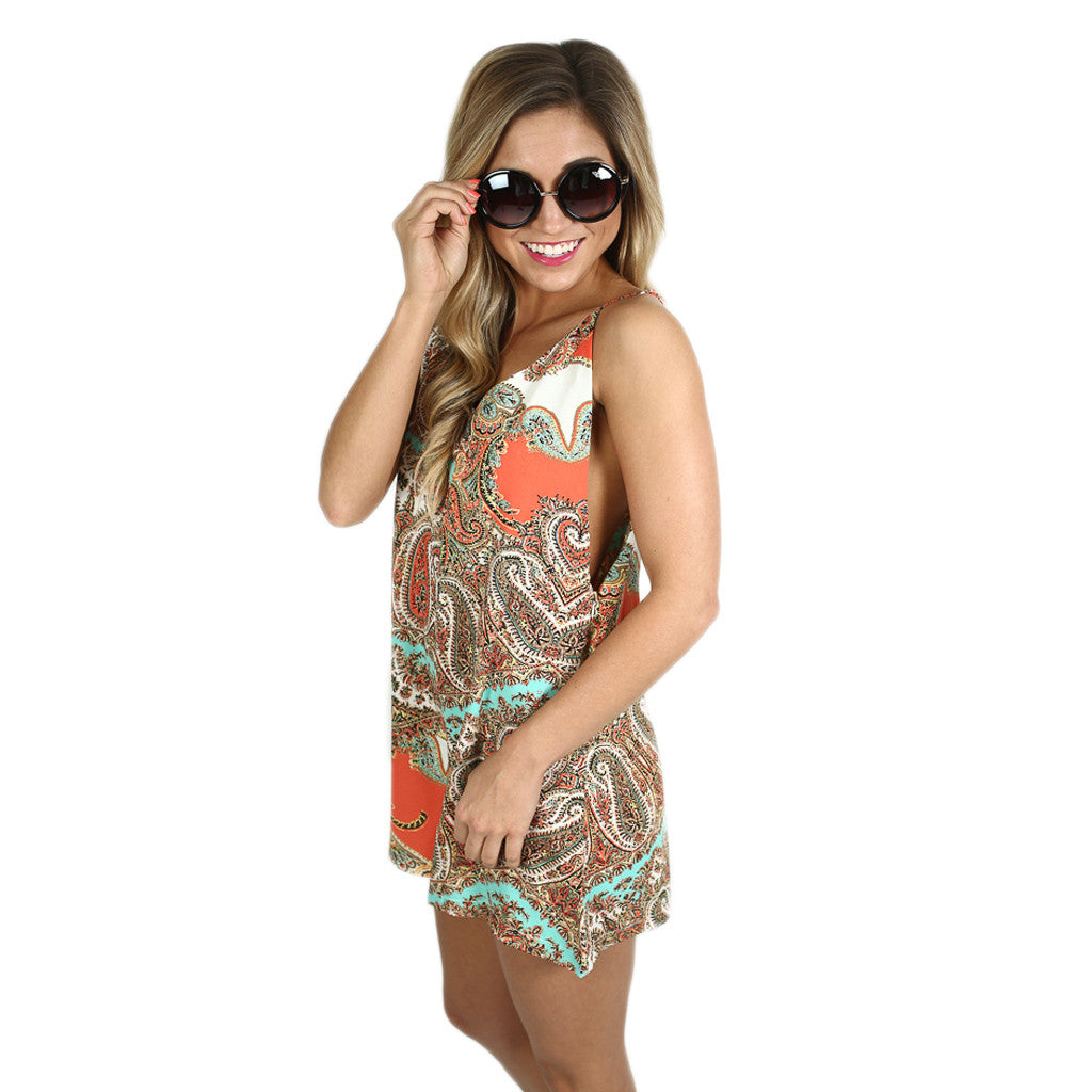 Perfection In Paisley Romper