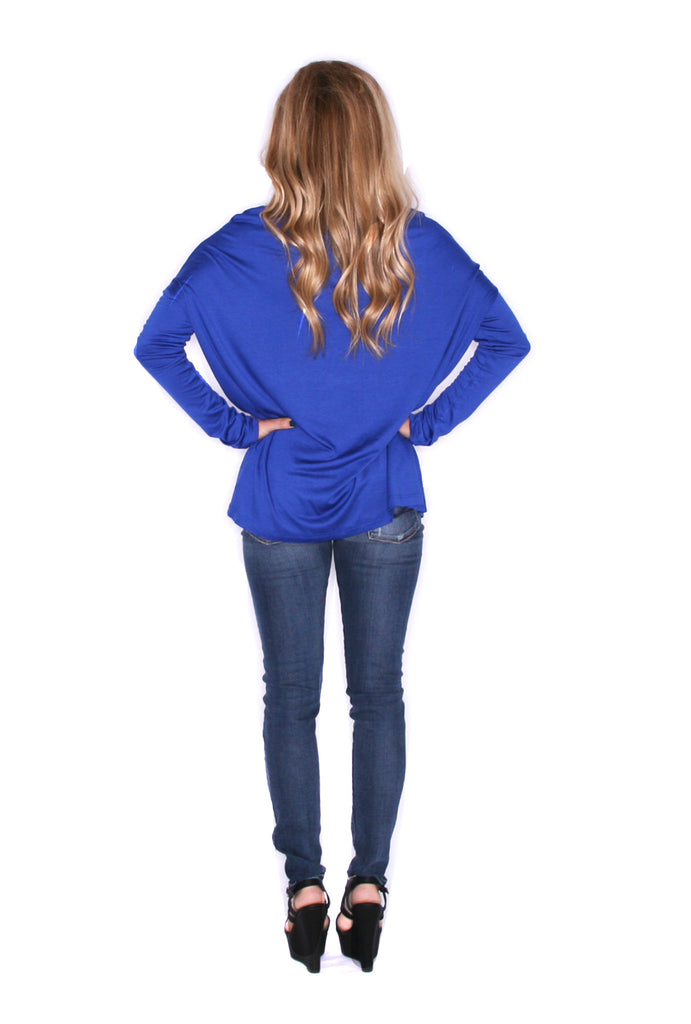 Perfect Little Tee Long Sleeve in Blue
