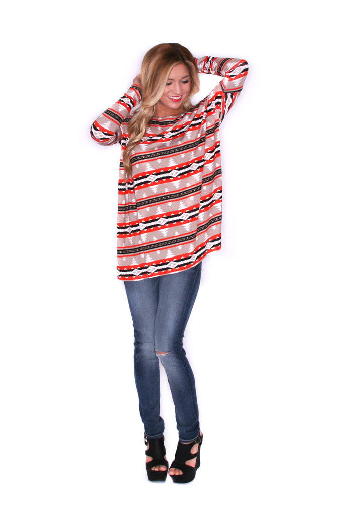 Perfect Little Long Sleeve Tee Aztec