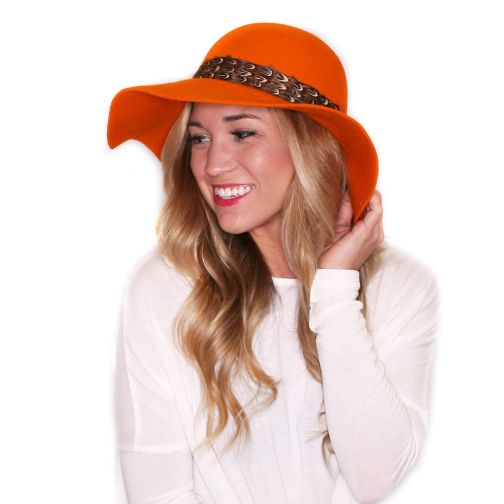 Perfectly Glam Hat in Orange