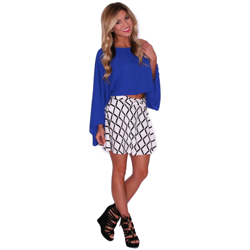Perfectly Pretty Crop in Royal Blue