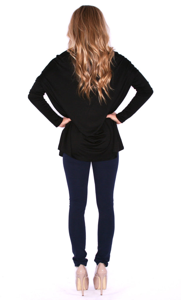 Perfect Little Tee Long Sleeve in Black