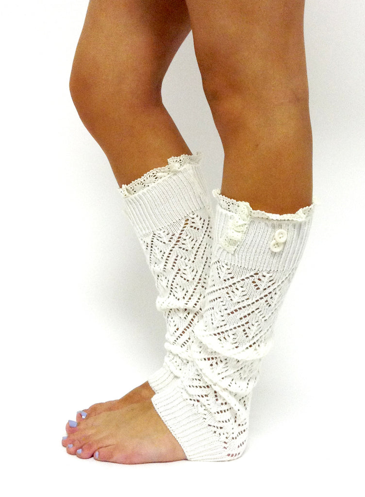 The Lacey Lou Legwarmer Off White