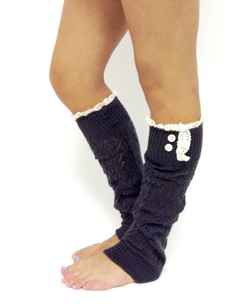The Lacey Lou Legwarmer Graphite