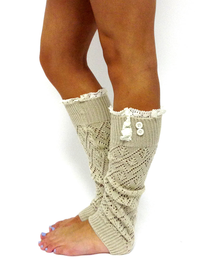 The Lacey Lou Legwarmer Natural