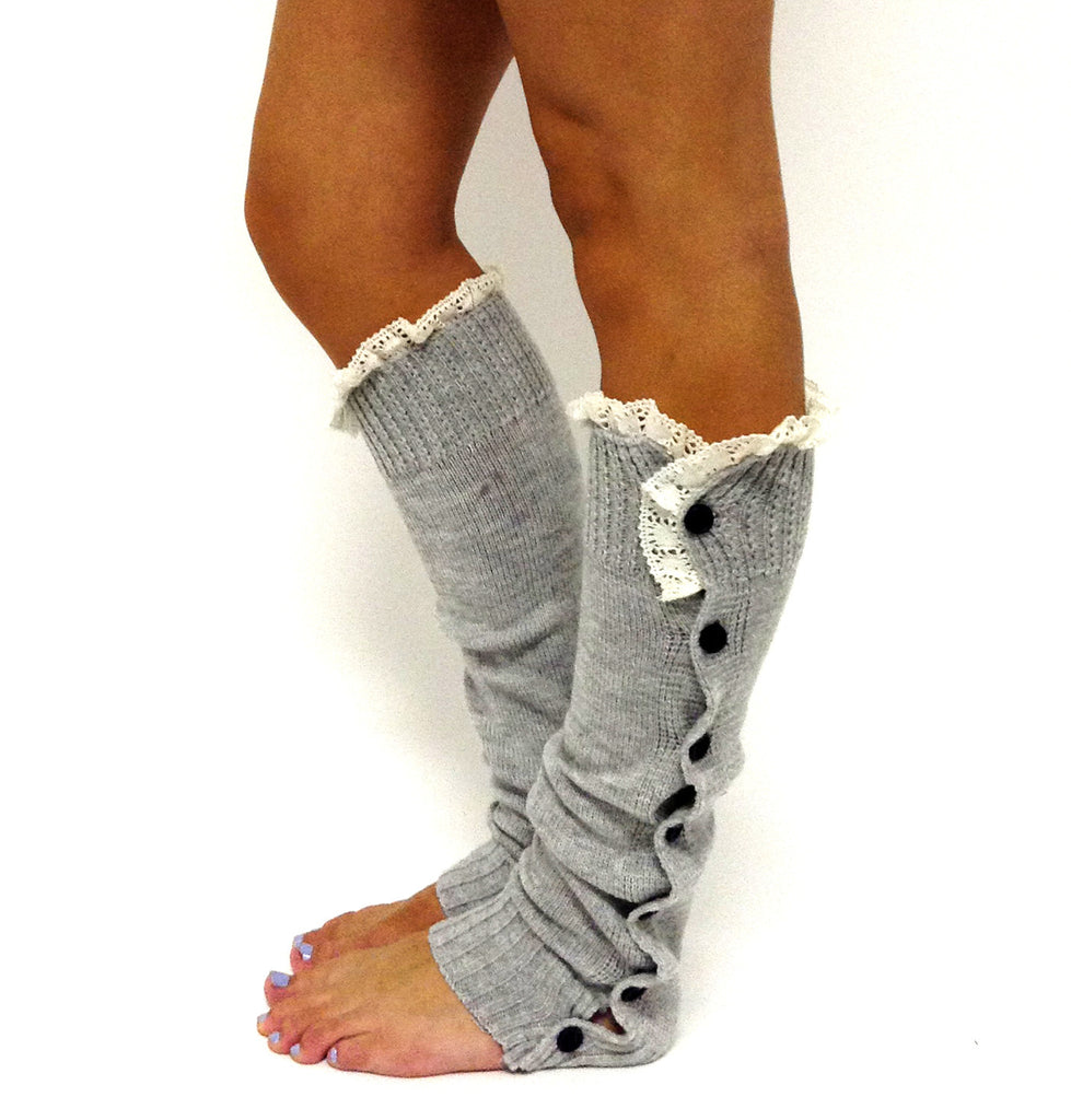 Miss Mollys Legwarmer Light Grey