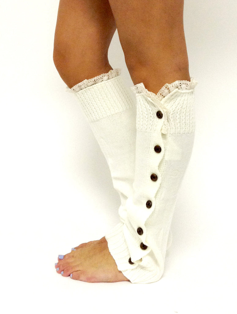 Miss Mollys Legwarmer Off White
