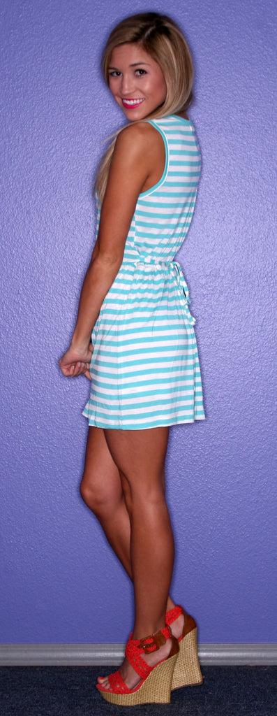 PIKO Striped Tank in Aqua