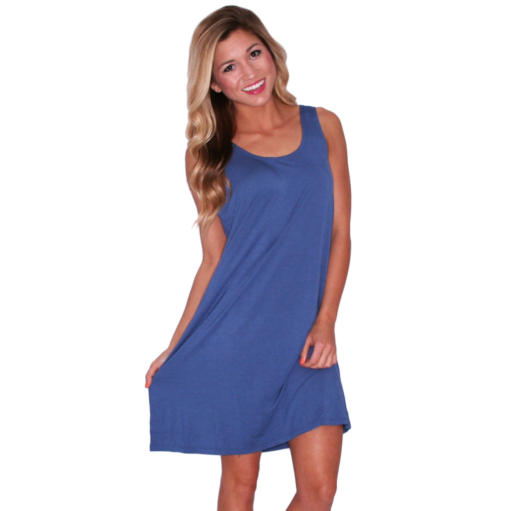 PIKO Tank Dress in Blue