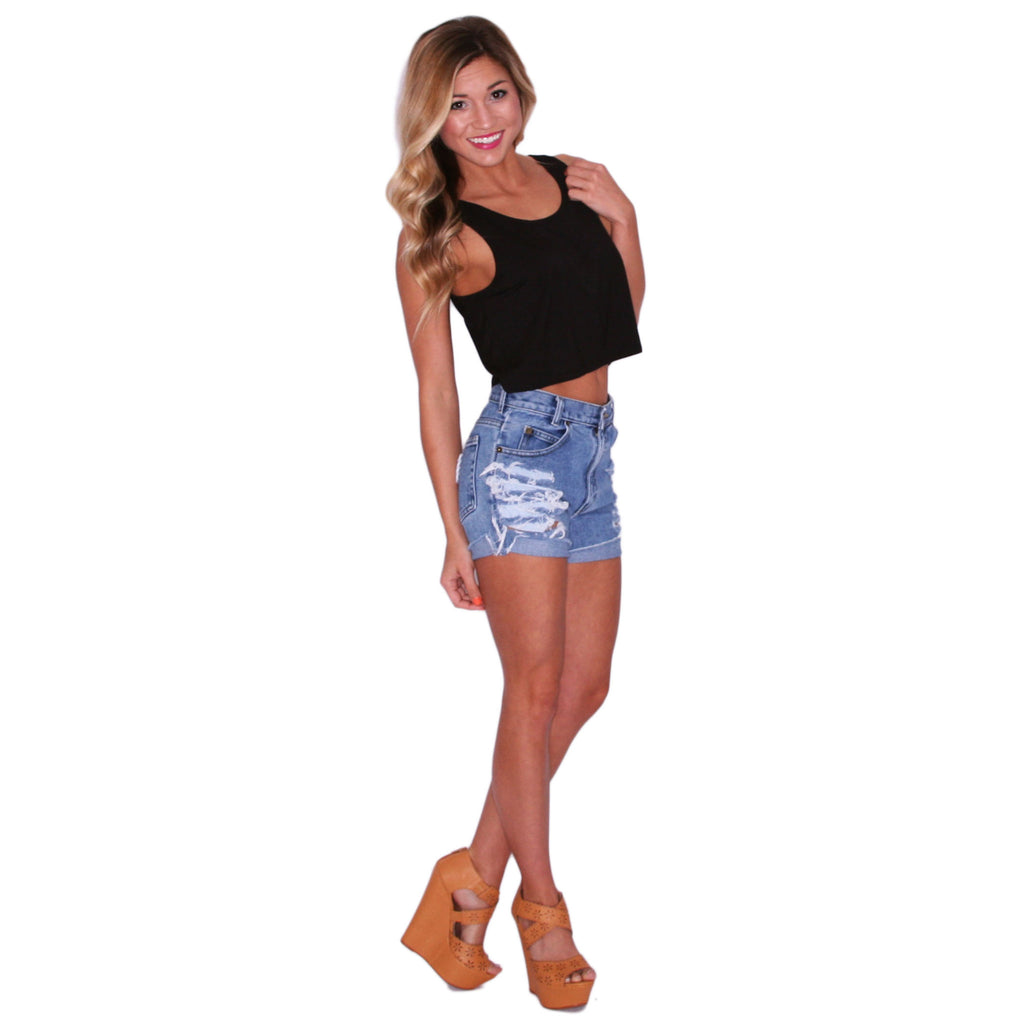 PIKO Crop Tank in Black