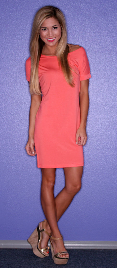 PIKO Tee Dress in Dark Peach