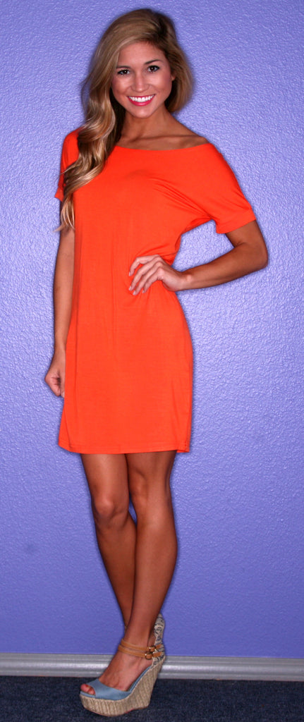 PIKO Tee Dress in Orange