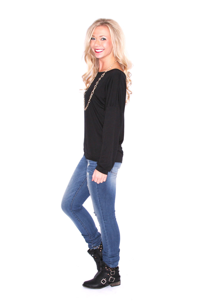 Piko Fitted Tee in Black