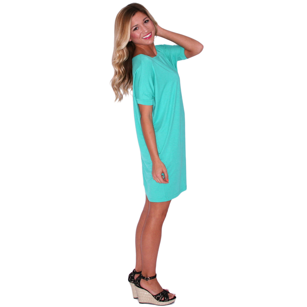 PIKO Short Sleeve Tunic in Light Green