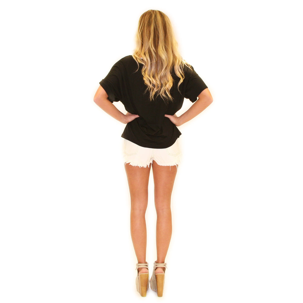 PIKO Loose Fit Tee in Black