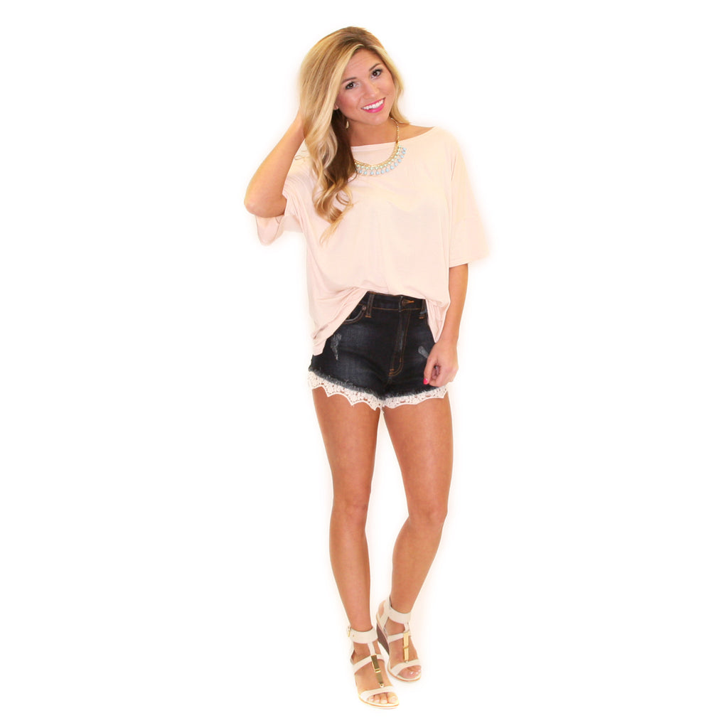 PIKO Loose Fit Tee in Nude