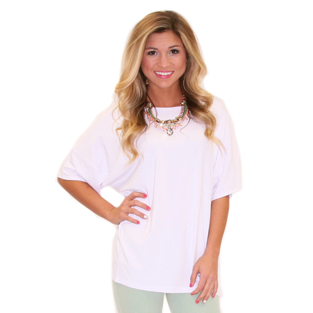 PIKO Loose Fit Tee in White