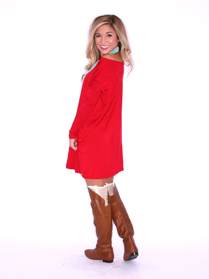 PIKO Tunic in Dark Red