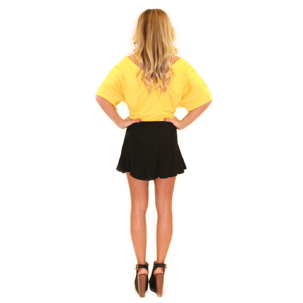 PIKO Relaxed Fit V-Neck Tee in Mustard