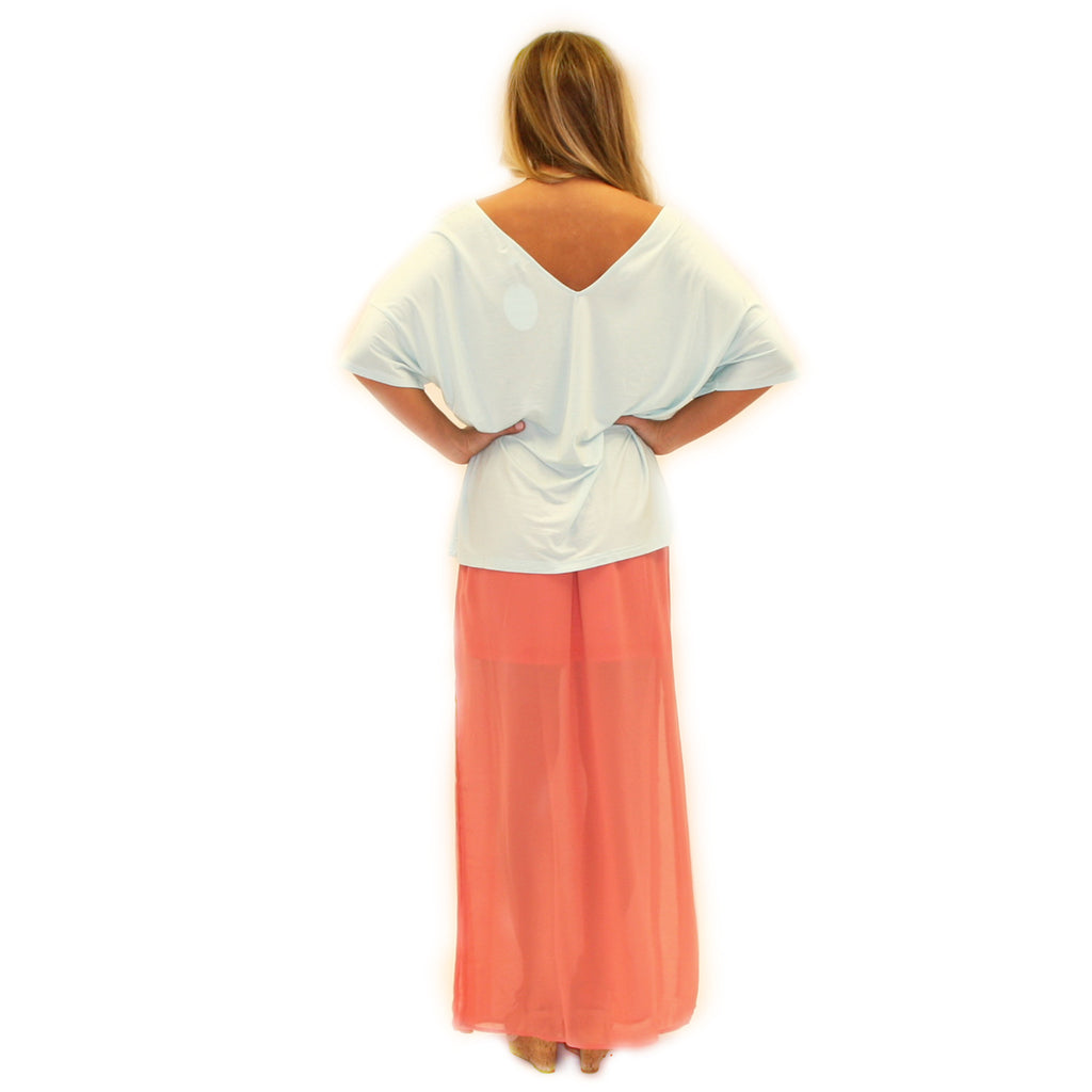 PIKO Relaxed Fit V-neck Tee in Mint