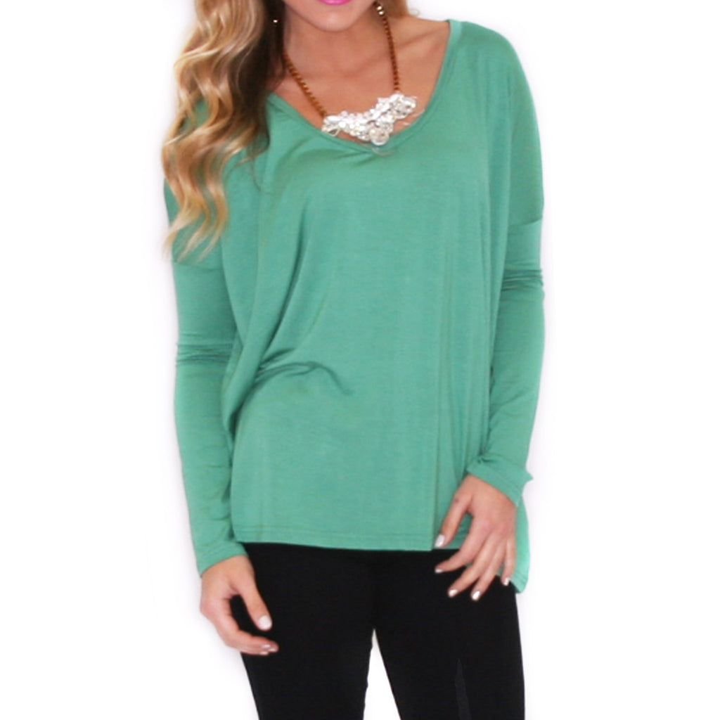 PIKO Tee Scoop Neck in Turquoise