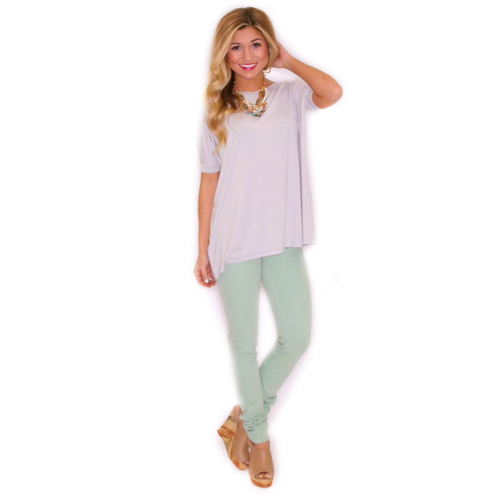 PIKO Short Sleeve Tee in Silver
