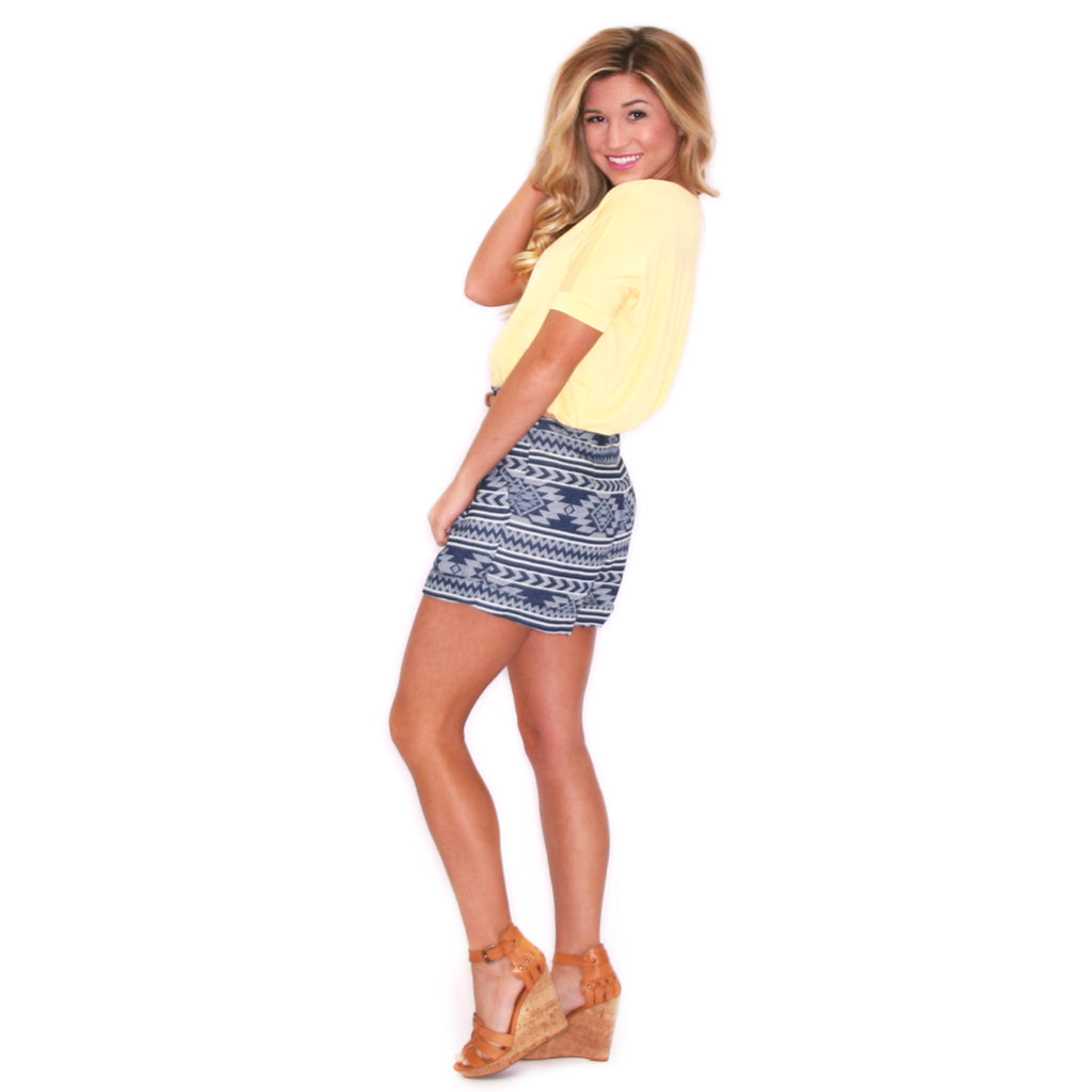 PIKO Short Sleeve Tee in Yellow