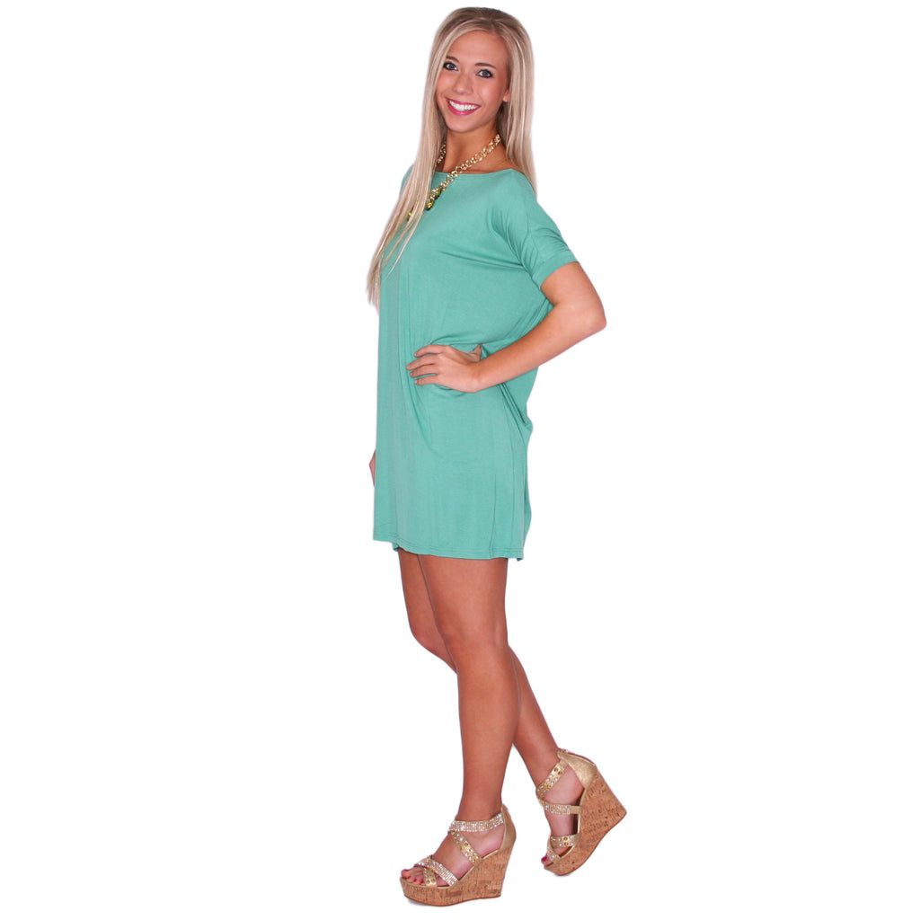 PIKO Short Sleeve Tunic in Turquoise