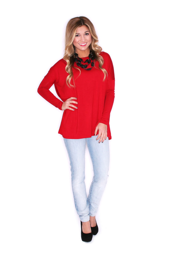PIKO Tee in Dark Red