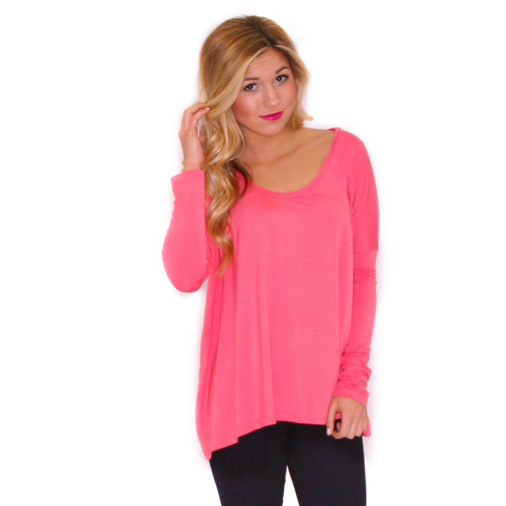 PIKO Tee Scoop Neck in Dusty Pink