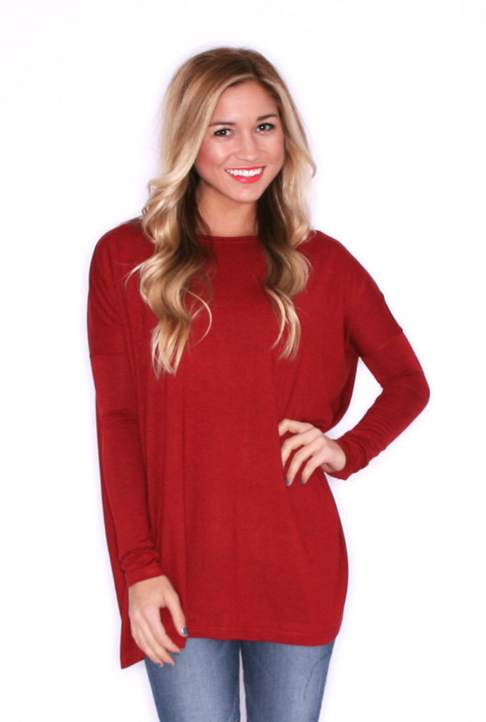 PIKO Thin Sweater in Wine