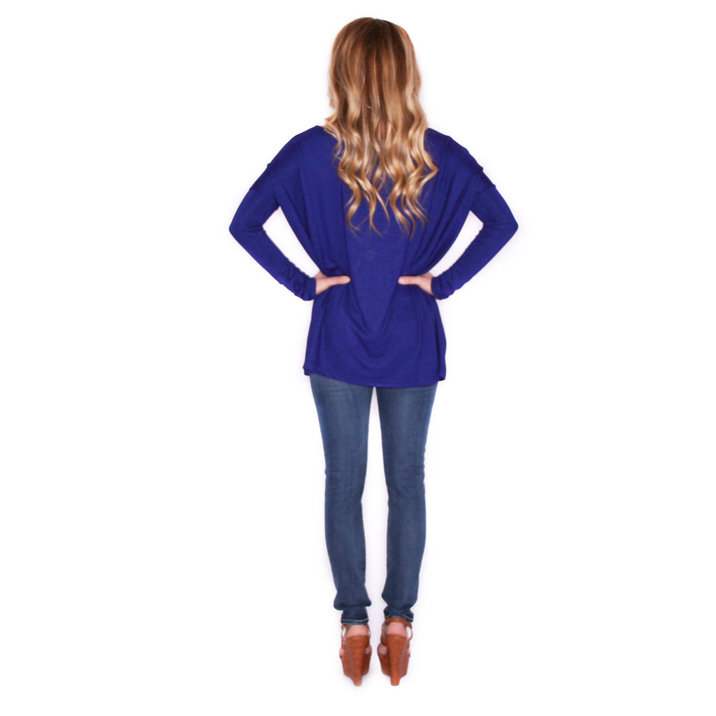 Piko Thin Sweater in Royal Blue