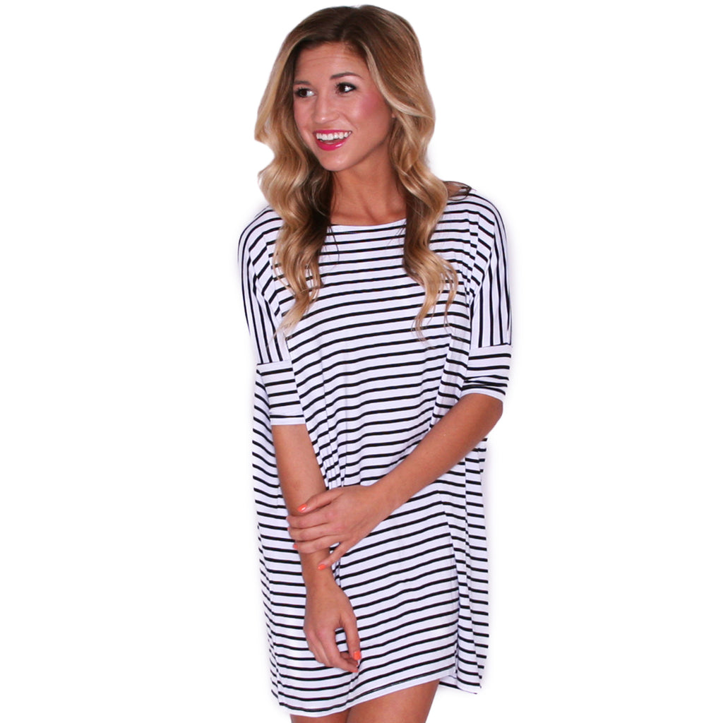 PIKO Stripe Tunic in Black