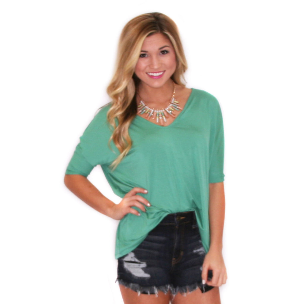 PIKO V-Neck Short Sleeve in Turquoise