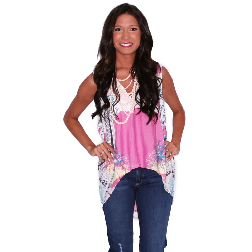 PIKO V-Neck Watercolor Tank