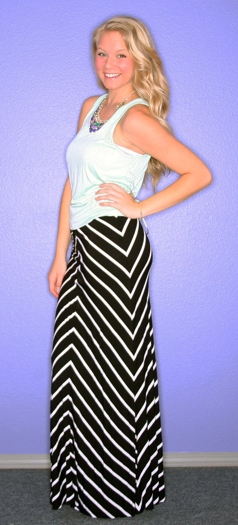 Crazy Cali Maxi Skirt Black