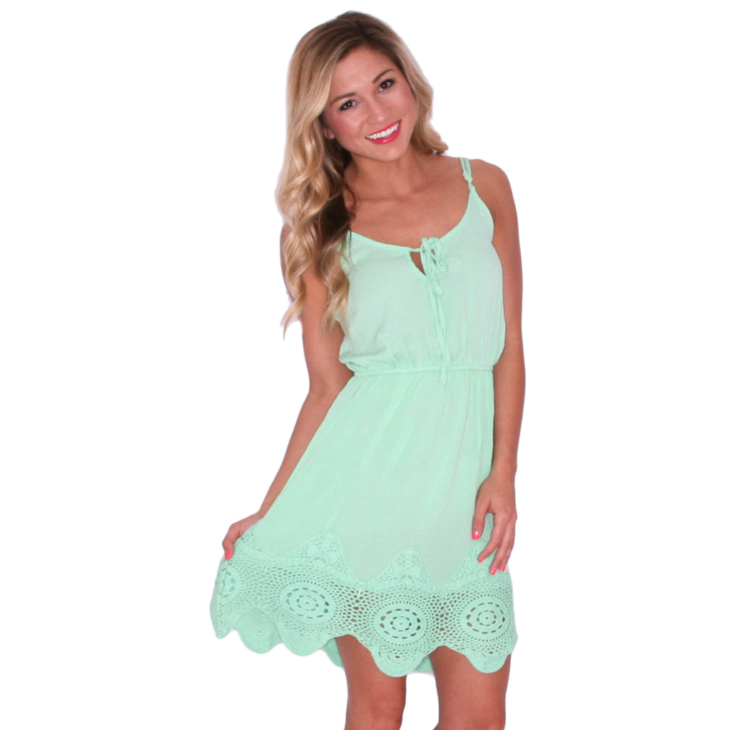 Pop Of Color Dress in Green