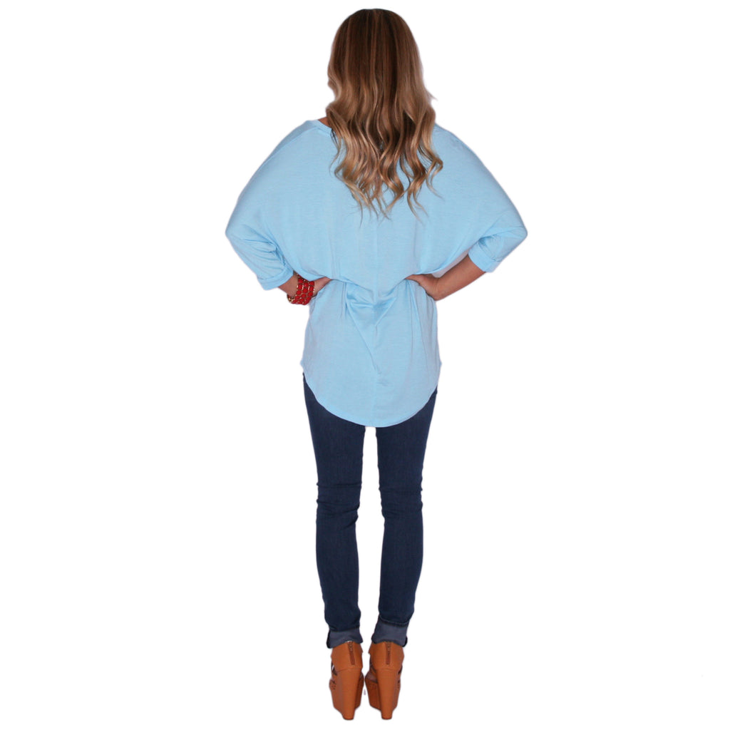 Porch Party Tunic Light Blue