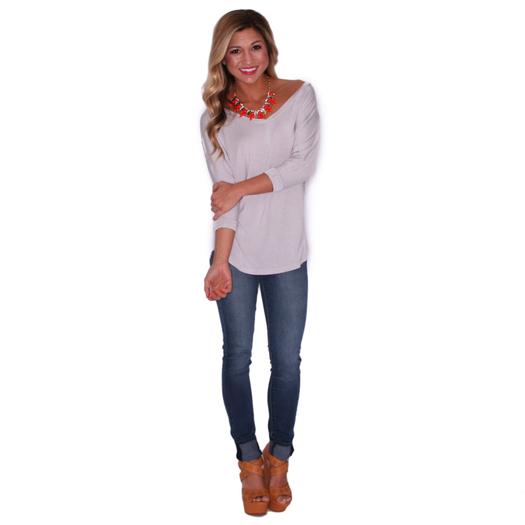 Porch Party Tunic Silver