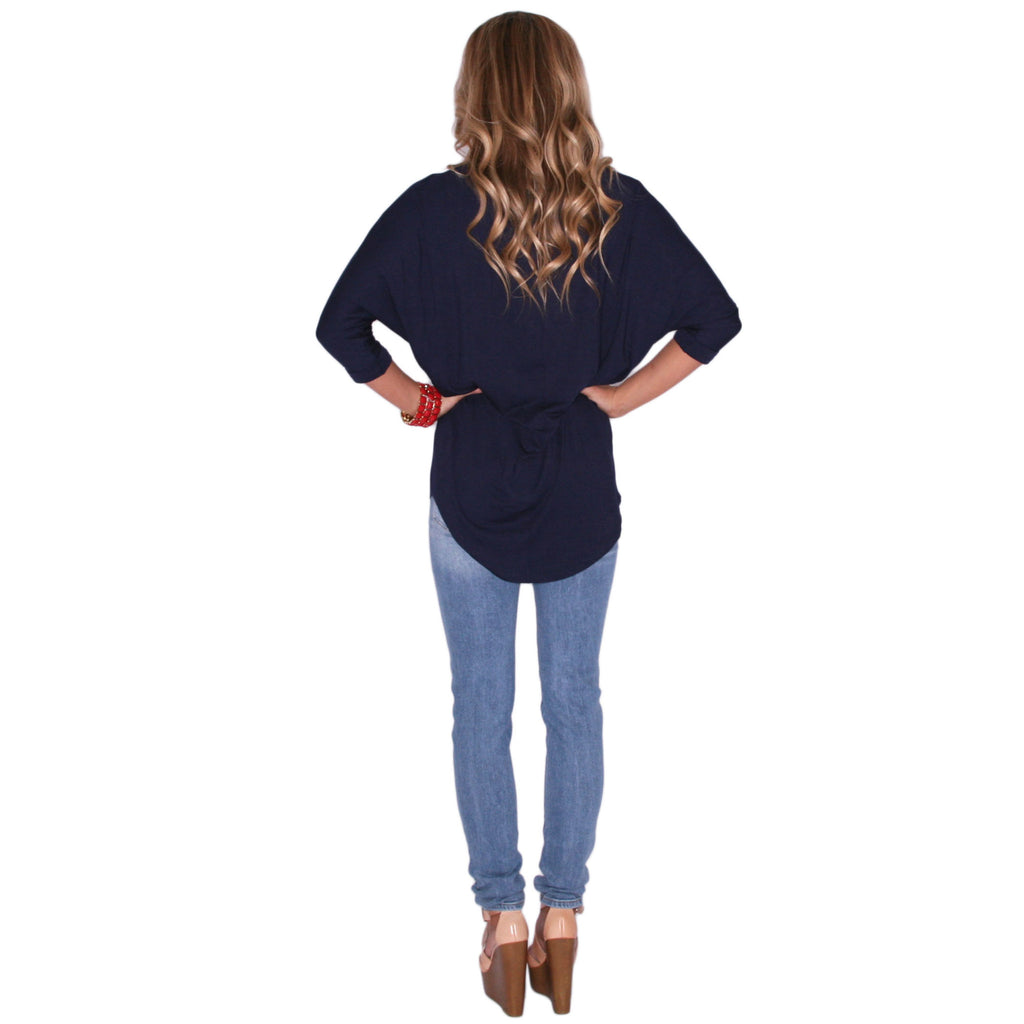 Porch Party Tunic Navy