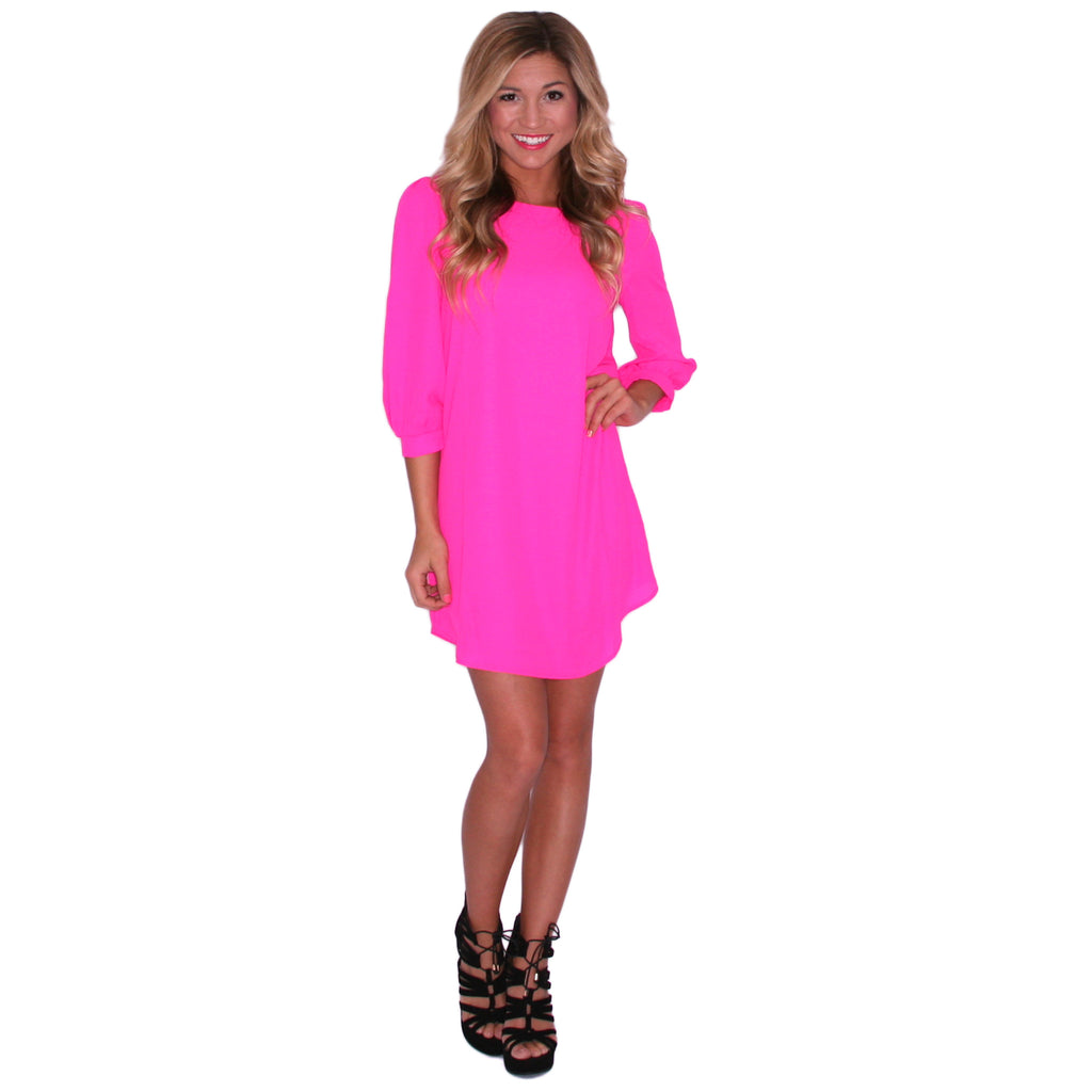 Prettiest In Pink Shift Dress